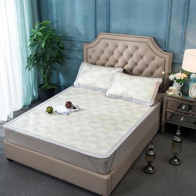 2019新品-北海道野衫藤席 日式和席 可折叠空调凉席 1.5m(5英尺)床 梦幻