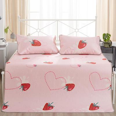 2019新品-印花冰丝席 可折叠凉席 空调席子 1.5m(5英尺)床 草莓知心