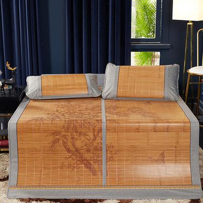 2019新品-竹藤双面席 天然竹席可折叠凉席 1.8m(6英尺)床 蝴蝶花单席子