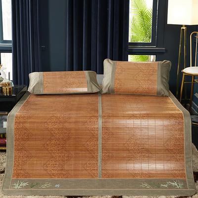 2019新品-竹藤双面席 天然竹席可折叠凉席 藤枕套/对 丝绸之路单席子