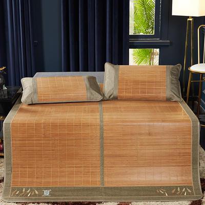 2019新品-竹藤双面席 天然竹席可折叠凉席 藤枕套/对 夏日印象