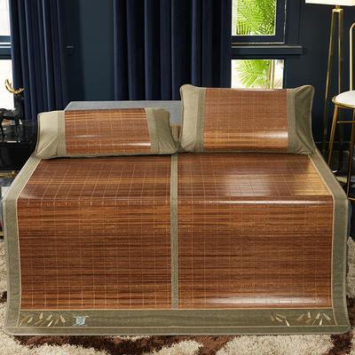 2019新品-竹藤双面席 天然竹席可折叠凉席 藤枕套/对 永恒岁月