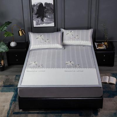 新品高级灰900D生态冰丝凉席 空调软席1.5/1.8m 1.5m(5英尺)床 暗香