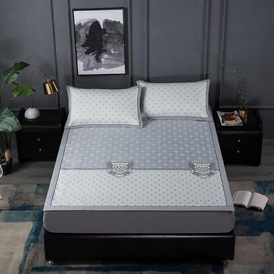 新品高级灰900D生态冰丝凉席 空调软席1.5/1.8m 1.5m(5英尺)床 绅士