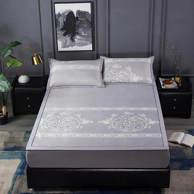 新品高级灰900D生态冰丝凉席 空调软席1.5/1.8m 1.5m(5英尺)床 遇见