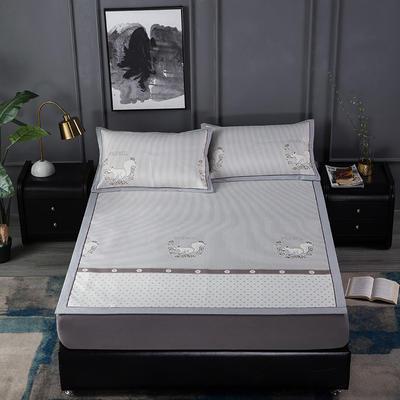 新品高级灰900D生态冰丝凉席 空调软席1.5/1.8m 1.5m(5英尺)床 松鼠之家