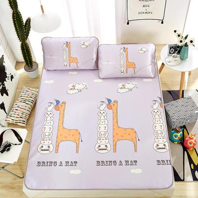 大版印花冰丝席 卡通数码印花凉席 1.5m(5英尺)床 好玩伴