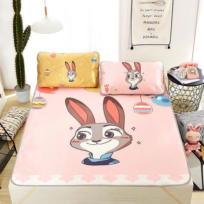 大版印花冰丝席 卡通数码印花凉席 1.8m(6英尺)床 警官兔