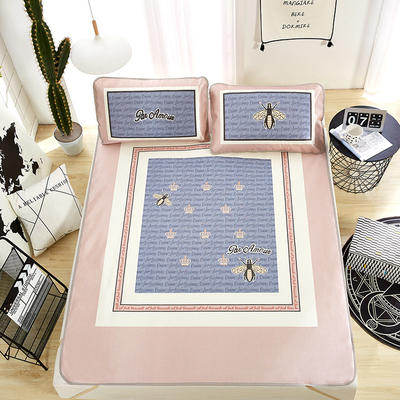 大版印花冰丝席 卡通数码印花凉席 1.5m(5英尺)床 时尚皇冠