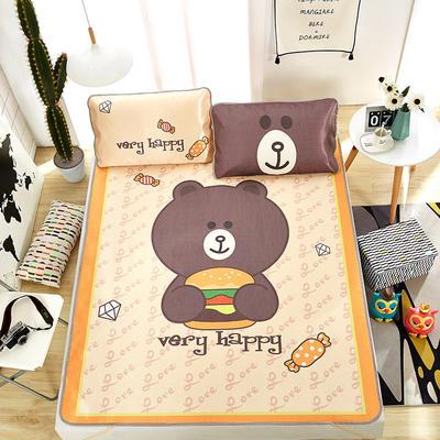 大版印花冰丝席 卡通数码印花凉席 1.8m(6英尺)床 贪吃熊