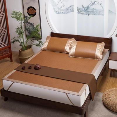 品牌同款古藤席 高端藤凉席 1.5m(5英尺)床 双包芯 饼干花