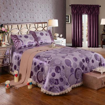 2020新款特價床單式 水洗冰絲席 230*250cm 雅諾 紫