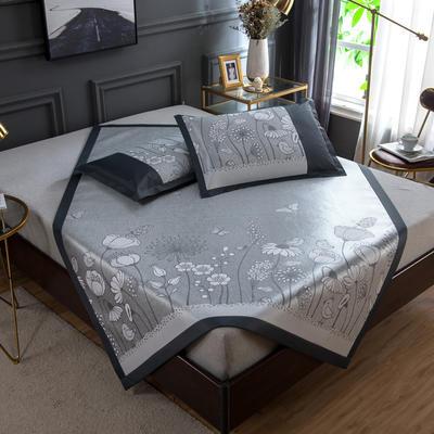 2020 新品 800D生态冰丝凉席 夏季空调席子 1.5m(5英尺)床 盛开