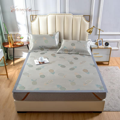 2020 新品600D提花冰丝凉席 夏季席子 1.5m(5英尺)床 菠萝