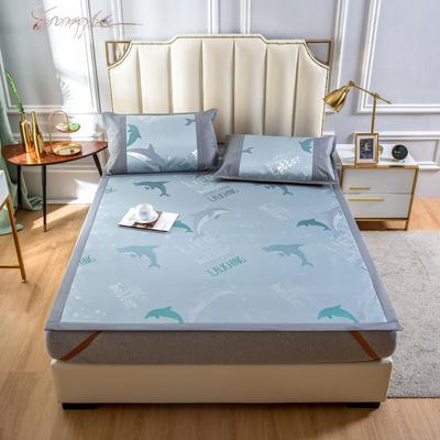 2020 新品600D提花冰丝凉席 夏季席子 1.8m(6英尺)床 海豚之家