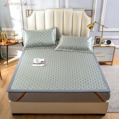 2020 新品600D提花冰丝凉席 夏季席子 1.5m(5英尺)床 幻想曲