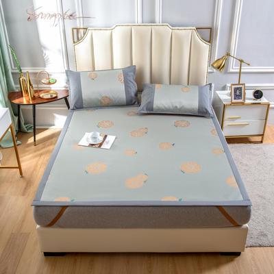 2020 新品600D提花冰丝凉席 夏季席子 1.5m(5英尺)床 甜橙