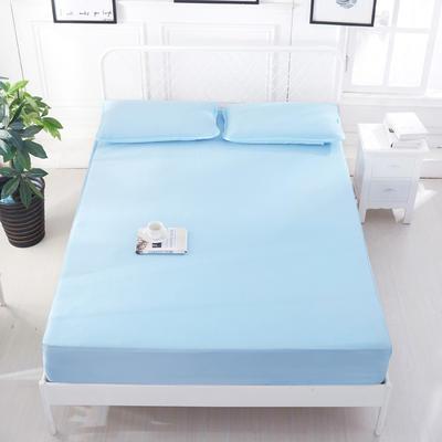 2020 新品冰凉纱凉席 空调软席 1.2m(4英尺)床 床笠款  浅兰