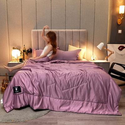花花公子 天丝夏被 三件套 夏季空调被子 150x200cm 紫色