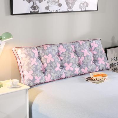 2019新款水洗棉床靠垫 2.0m 粉色花