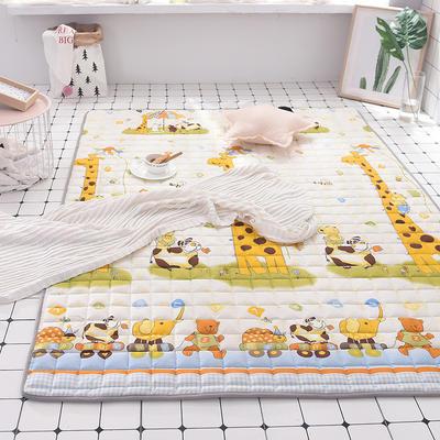 2020全棉防滑可水洗床褥(地垫)-可定制 1.2*2.0 动物园