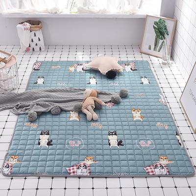 2020全棉防滑可水洗床褥(地垫)-可定制 1.2*2.0 快乐狗狗
