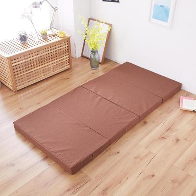 2020厚度8cm折床垫 90*190cm 咖色