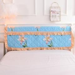 2018全棉四件套(床头罩) 150*110 香水百合-蓝