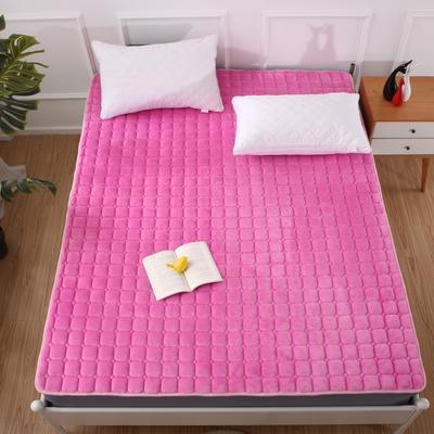 2020法莱绒床褥(地垫)-可定制 1.2*2.0m 红粉佳人