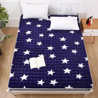 2020法莱绒床褥(地垫)-可定制 1.2*2.0m 蓝星