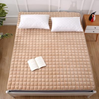 2020法莱绒床褥(地垫)-可定制 1.2*2.0m 温暖驼色