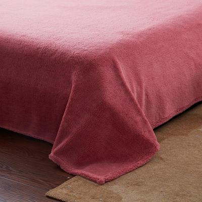 2020法莱绒贴布绣四件套 1.5m(5英尺)床 羊羔绒豆沙圆点