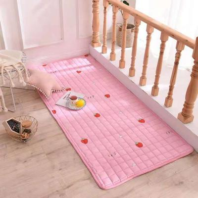 2020全棉防滑可水洗床褥(地垫)-可定制 1.2*2.0 草莓