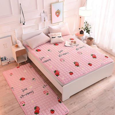 2020法莱绒床褥(地垫)-可定制 1.2*2.0m 大草莓