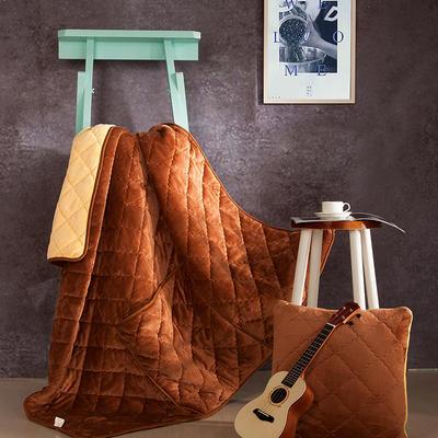 2020新款抱枕被 50*50展开尺寸1.5*2.0 咖啡双拼