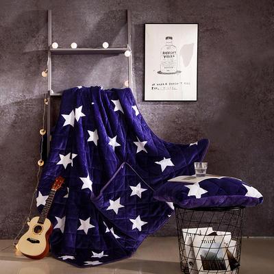 2020新款抱枕被 50*50展开尺寸1.5*2.0 蓝星双面绒