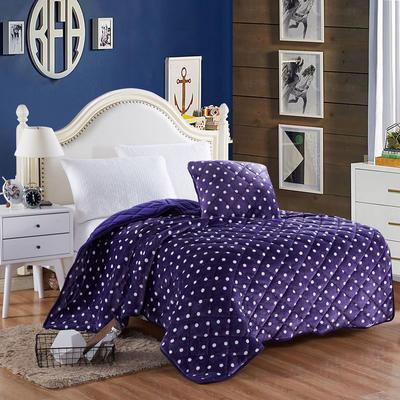 2020新款抱枕被 50*50展开尺寸1.5*2.0 紫色波点