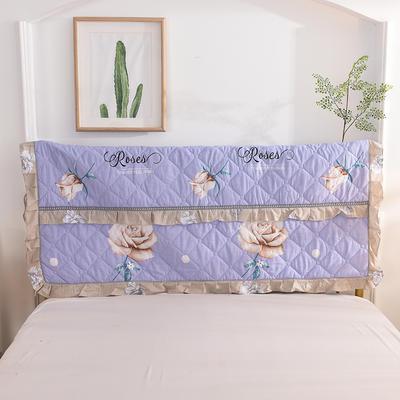 2020新款夹棉床头罩 150*110夹棉床头罩 香榭玫瑰