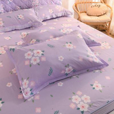 2020新款全棉信封枕套 48cmX74cm 一对 玛琪朵-紫