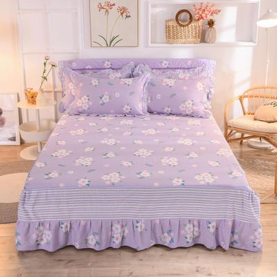 2020新款全棉单床裙 120cmx200cm 玛琪朵-紫