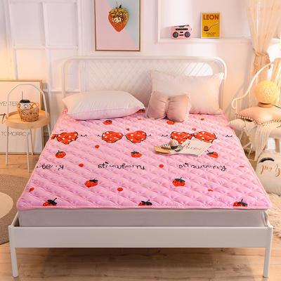 2020新款宝宝绒床褥 90*200cm 草莓甜心