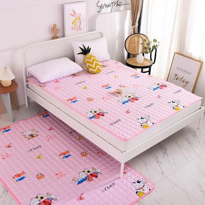 2020全棉防滑可水洗床褥(地垫)-可定制 1.2*2.0 发财猫