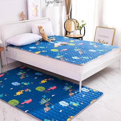 2020全棉防滑可水洗床褥(地垫)-可定制 1.2*2.0 恐龙乐园