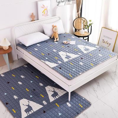 2020全棉防滑可水洗床褥(地垫)-可定制 1.2*2.0 麋鹿
