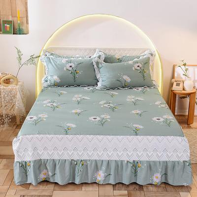 2020新款全棉单床裙 150cmx200cm 清新绿叶