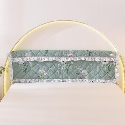 2020新款全棉夹棉床头罩 120*110 清新绿叶