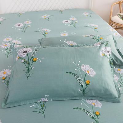 2020新款全棉信封枕套 48cmX74cm 一對 清新綠葉