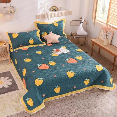 2020新款全棉夹棉床盖软席-花边床盖款 单件200*230cm花边床盖款 草莓宣言