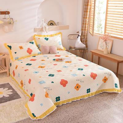 2020新款全棉夹棉床盖软席-花边床盖款 单件200*230cm花边床盖款 初晨阳光
