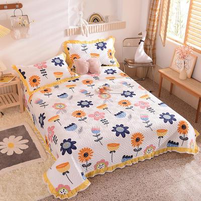 2020新款全棉夹棉床盖软席-花边床盖款 单件200*230cm花边床盖款 静看花颜